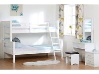Bunk Bed Triple Sleeper Solid Wood White Brandnew in tHe Box Fast Delivery Discounted Price