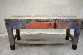 Vintage workbench - shop fitting retail display gallery - joiners bench