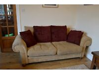 Large 4 Seater and 3 seater sofa with footstool.