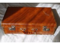 Vintage and original 1940 50's (retro) style Pioneer Luggage hard suitcase.