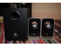 Logitech LS21 2.1 Black Speakers