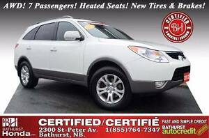 2012 Hyundai Veracruz Limited Certified! V6! AWD! 7 Passengers!