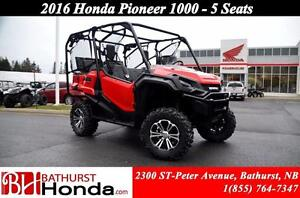 2016 Honda Pioneer 1000 5 seats EPS! 6 Speed! 5 Seats! Dual Clut