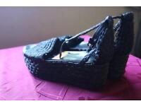 Zara wedges BLACK shoes