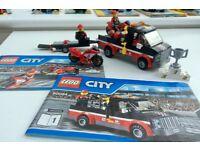 LEGO CITY BUNDLE SALE: Racing Bike Transporter (60084) / Power Boat Transporter (4643)