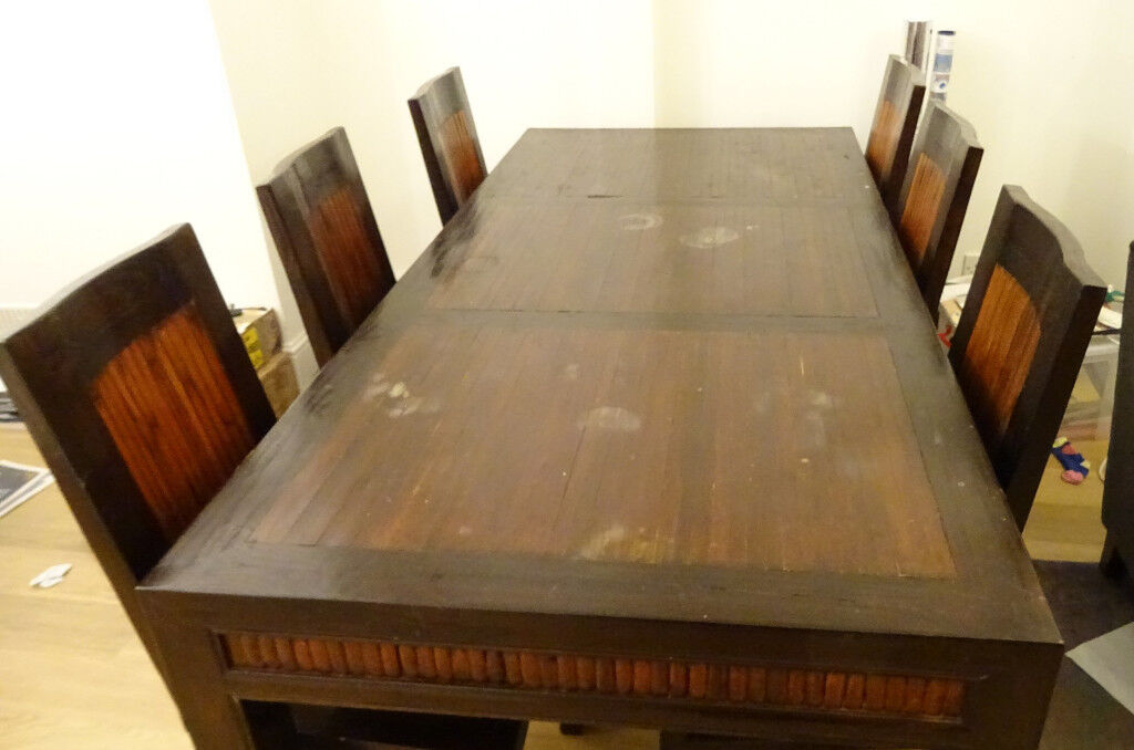 Urgent Solid Timber 6 Seat Dining Table And Chairs In Wandsworth London Gumtree