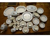 ROYAL DOULTON Counterpoint dinner service. Incudes tea and coffe set.