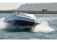 Four Winns 195 Freedom power boat and Four Winns twin axle galvanised trailer.