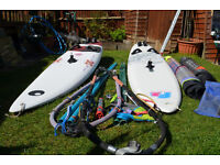 2X Windsurfers and accessories Sails Booms Fins