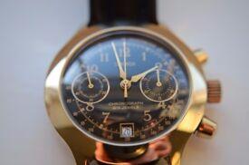 Poljot Sekonda manual wind mechanical chronograph wristwatch - Russian - '90s - NOS - Overwound