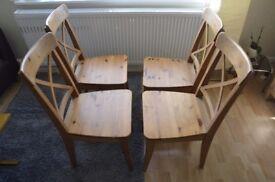 4 Ikea INGOLF Chairs