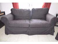 IKEA EKTORP 2-3 SEAT SOFA AND FOOTSTOOL FOR SALE