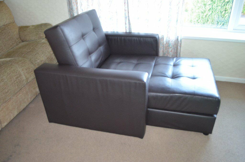 Leather sofa one seater lounge, armchair with storage Must go ASAP ONOin Poole, DorsetGumtree - Leather sofa one seater lounge, armchair with big storage approx. size 104 cm x 143 cm (long) sleeping area 73 cm X 162 cm
