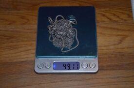 Gift idea! Antique Pure Silver Mesh Purse