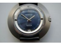 Nivada Ultramatic 36000 automatic mechanical Hi Beat wristwatch - Swiss - '70s - New old stock