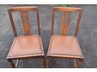 4 Old Oak Dinning Chairs