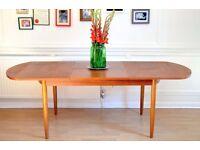 Vintage Danish Teak Extending Dining Table. Delivery. Mid Century/Modern.