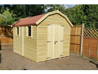 Garden Shed, new and Heavy Duty Tanalised Wood Dutch Barn, size 7ft x 5ft from just £720.00