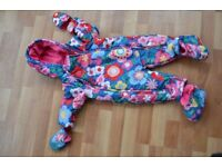 TOBY TIGER BABY SNOWSUIT DESIGNED BY ZOE MELLOR