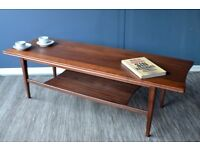 Vintage Richard Hornby for Heal's two-tier teak coffee table. Delivery. Modern/Midcentury/Danish.