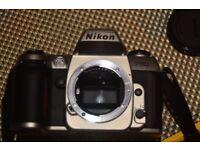 Nikon F80 35mm film camera.