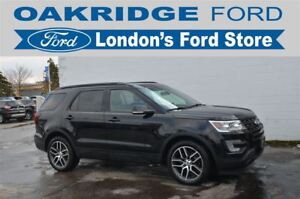 2016 Ford Explorer SPORT - 4WD, 2ND ROW CAPTAINS SEAT, ADAPTIVE