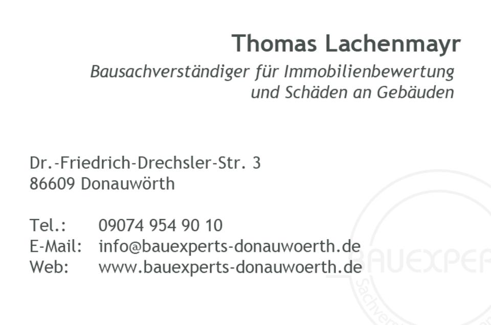 Immobilienbewertung / Wertermittlung Haus - Donauwörth in Donauwörth