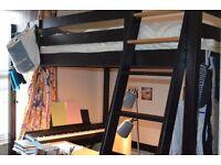 Double Loft Bed Ikea Stora (legs shortened) + Sultan double Mattress