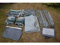 Bradcot 5 piece caravan awning - Size 900 - Green/Grey - VGC