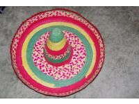 Authentic Straw Sombrero. Excellent condition. Unused.