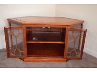 Corner TV cabinet, Rosewood, Excellent Condition
