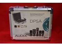 Audix DP5A Set of Professional Drum & Instrument Microphones with Case Brand New £600