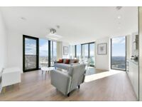 NEW 24th floor 2 bed 2 bath furnished flat in Stratosphere Tower NO AGENCY FEES, gym, 24hr porter