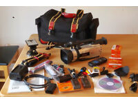 Canon XM2 3CCD cam corder, mint , fully working, all accessories ,extra unused tapes, batteries