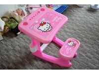 Plastic writing desk and chair 2in1