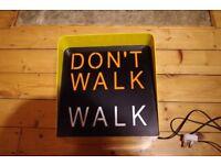 Yellow New York Style Dont Walk, Walk Lamp. - Handmade