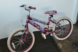 Girls 18 wheel Raleigh bicycle in good condition .