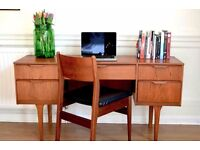Vintage Austinsuite Danish style teak desk / dressing table. Delivery. Modern / Mid century style.