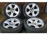 "BMW 5 Series SE E60 17"" alloy wheels - Genuine OEM - 5 x 120 - Run Flats - 225/50 - GoodYear - £220"