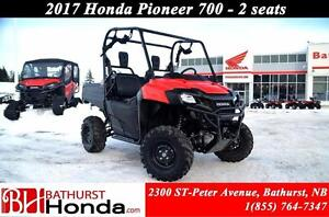 2017 Honda Pioneer700 2 Seats! Independent Rear Suspension!