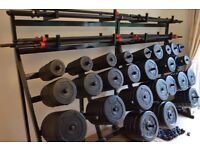 Les Mills / Don Oliver 671 kg complete professional weights set with bars and racks