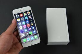 iPhone 6 white and silver on 02 open to offers