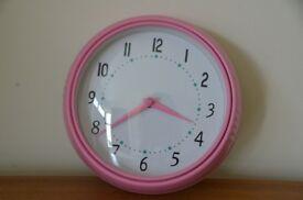 Pink IKEA wall clock