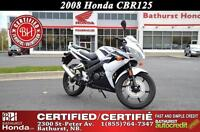 2008 Honda CBR125 Very Low Mileage! Certified!