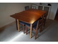 Nathan mid century dining table, extendable, refinished this summer