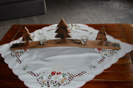 Whisky Barrel Stave Christmas Tree Tea Light Ornament Exclusive