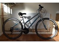 "BRAND NEW NEVER USED 17"" Raleigh Edale Womens Hybrid Bike + All Terrain Rider Pro Helmet"