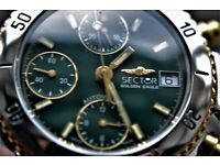 Sector Golden Eagle automatic mechanical chronograph wristwatch-'90s - new old - Flagship - Val 7750