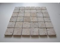 Travertine Mosaic Wall Tiles Natural Stone (RRP £25 per pack)