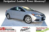 2012 Honda Civic Coupe Ex-L FULLY LOADED! Navigation! Leather! P